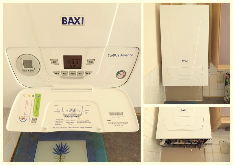 NEW BAXI ECO BLUE COMBINATION BOILER SET UP WITH MONEY SAVING CONTROLS.
