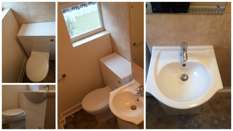 BATHROOM HONITON – NEW CLOAK ROOM INSTALLED IN UPOTTERY NEAR HONITON.