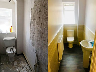 Before and After Bathroom Images